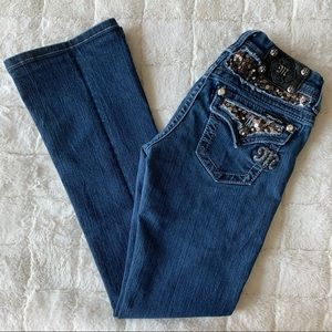 Miss Me Easy Boot Jeans 25 Sequins Bling